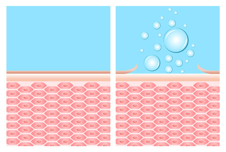 exfoliation: bubble soap cleaning a dead skin off