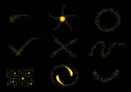 shinning: glittering stars line sparkling particles. icon . Space shinning glitter comet tail . Vector . laser , bokeh line Illustration