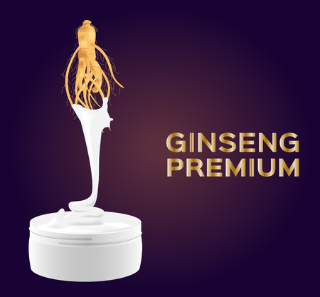 traditional chinese medicine: ginseng cream and lotion vector , ginseng premium quality