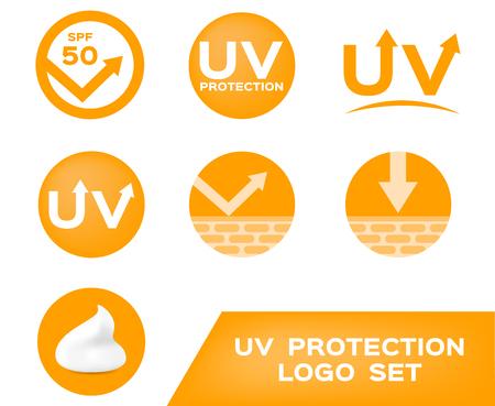 sun block: uv protection logo , 7 uv icon