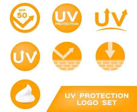 uv protection logo , 7 uv icon