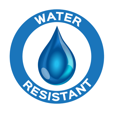 Water resistant logo , icon and vector . blue Water resistant version