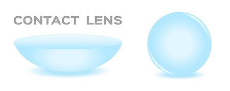 nearsighted: Two contact lenses. Eps 10 , vector