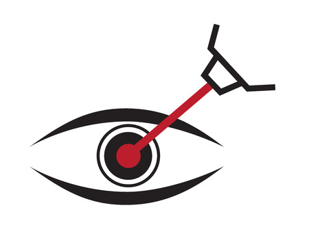 eye lasik icon Иллюстрация