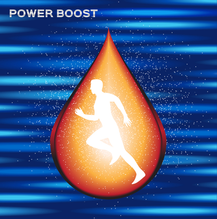 boost: sport energy boost serum , energy boost drop vector , log and icon