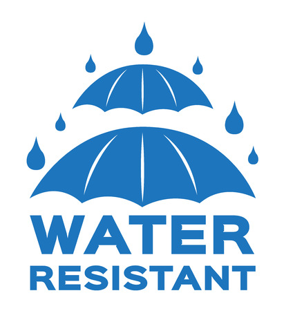 Water resistant icon and vector . blue Water resistant version