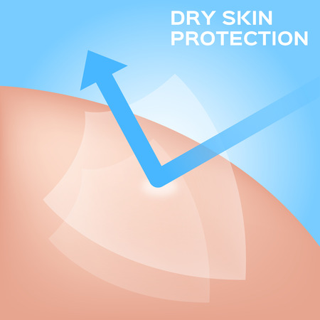 dry skin: dry skin icon vector . dry skin shield