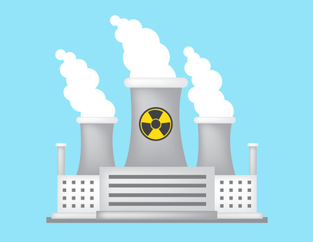 nuclear plant: nuclear plant in colorful design, vector illustration