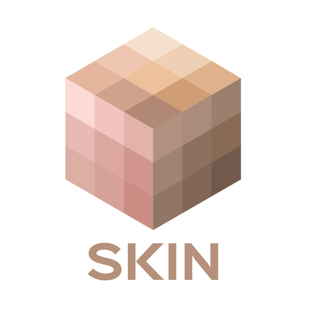 skin burns: skin tone color icon and vector . all skin color of human