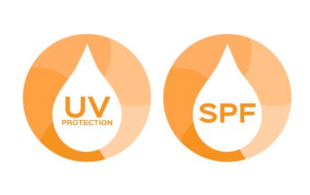 uv: uv protection and spf icon . uv vector Illustration
