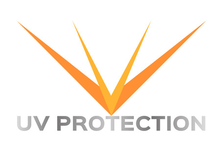uv: UV VECTOR , ICON. orange uv color Illustration