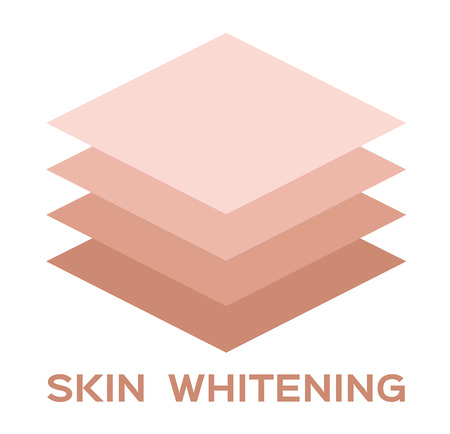 skin whitening icon and vector . dark skin turn to white skin