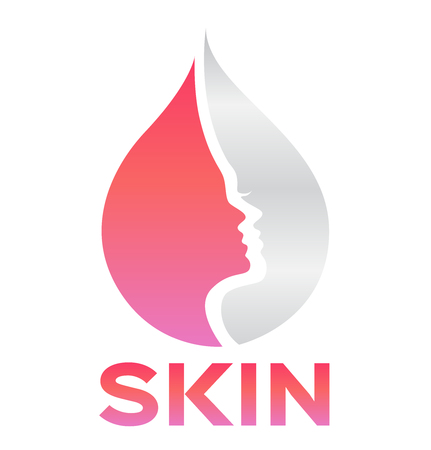 skin icon and vector . face Illustration