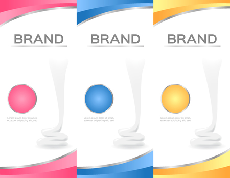 body wrap: Shampoo bottle and moisturizer lotion pack template vector