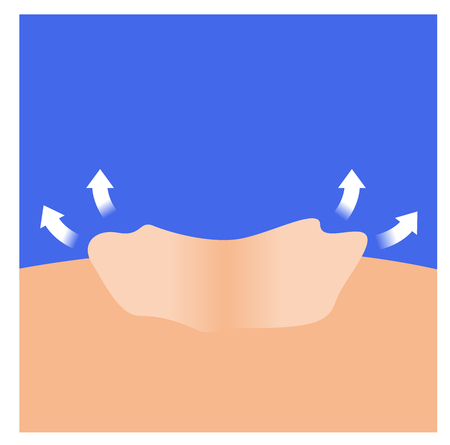 dry skin vector . moisturizer come out of the skin Illustration