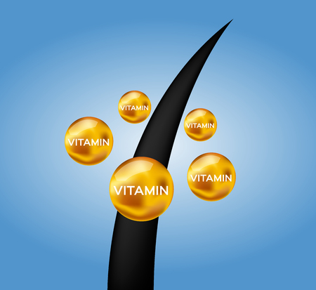 damaged hair cure by vitamin
