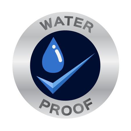 水証拠のアイコン ベクトル