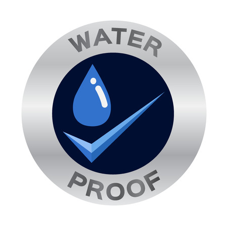 water proof icon vector Çizim