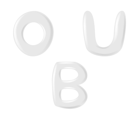 white foam lotion and milk alphabet font . vector