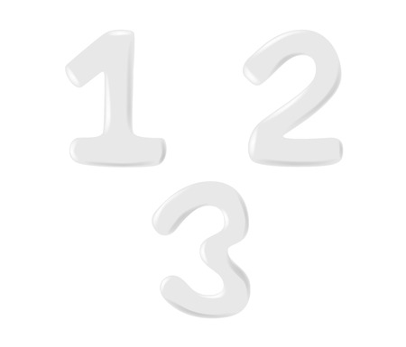 white foam lotion and milk number font . vector