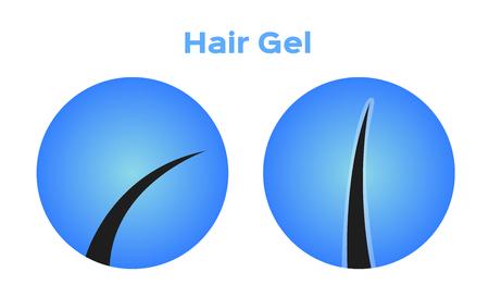 hair gel vector Illustration