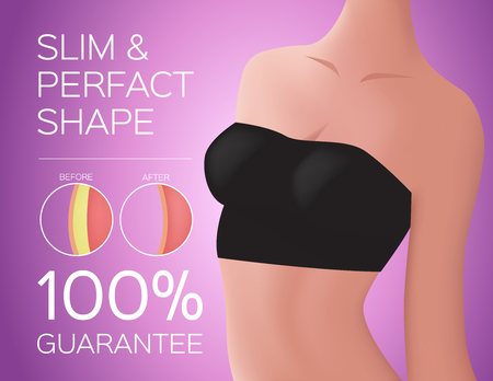 slim and perfect shape women and background for advertising Illustration