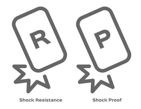 Stoßfestigkeit Und Widerstandssymbol. Vektor Lizenzfrei Nutzbare ...