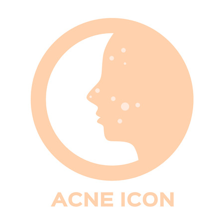 pustule: Acne and pimple icon . vector