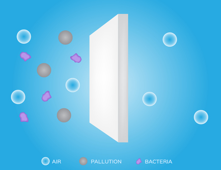 filtration: air filter vector Illustration