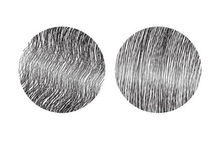 kinky: hair type vector . straight and curly hair