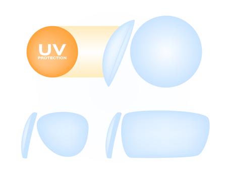 uv lens for glasses vector