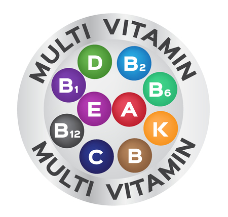 multi vitamin for good health .color vector ,  logo and icon