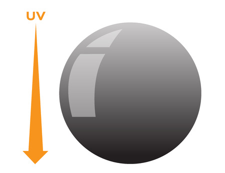 Photochromic lens vector . uv can change the color