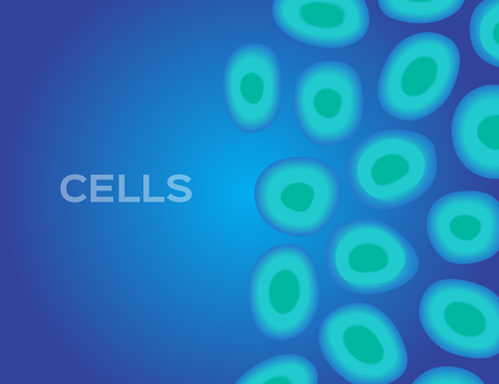 ameoba: cell vector background . science and biology Illustration