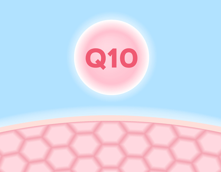 palpitation: q 10 icon vector