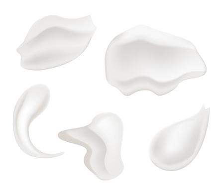 Vector icon White moisturizer and collagen Foam Cream Mousse Soap Lotion Illustration