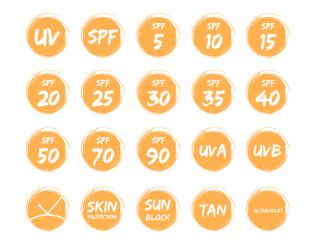melanin: spf uv and ultraviolet icon vector