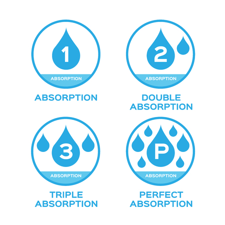 absorption: blue water absorption vector icon