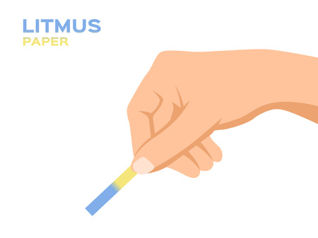 Litmus test with hand vector  ph Ilustrace