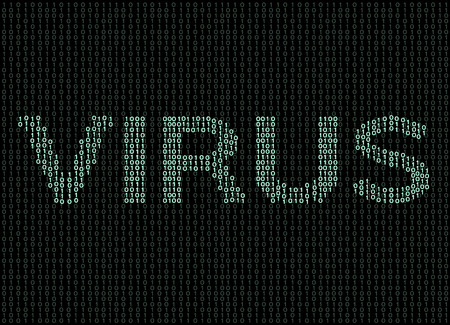 virus and malware computer vector Illustration