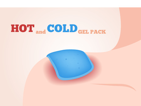hot and cold gel pack vector
