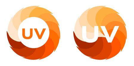 hemorragias: Dos conjunto de icono ultravioleta