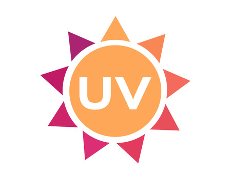 紫外線のアイコンの 2 つのセット  イラスト・ベクター素材