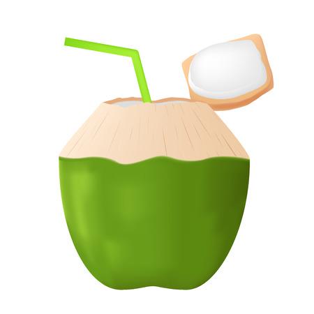 coconut juice vector