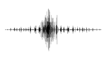 seismograph: An earthquake wave diagram . Seismogram of different seismic activity record vector illustration. Illustration