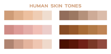 skin tone color infographic Vectores
