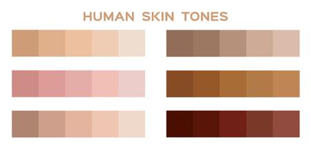 skin tone color infographic Illustration