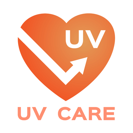uv protection logo and icon , ultraviolet vector  shield