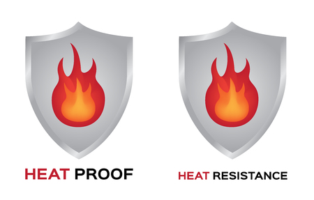 heat proof and resistance vector icon