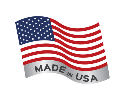 Made in USA icon and vector Illustration
